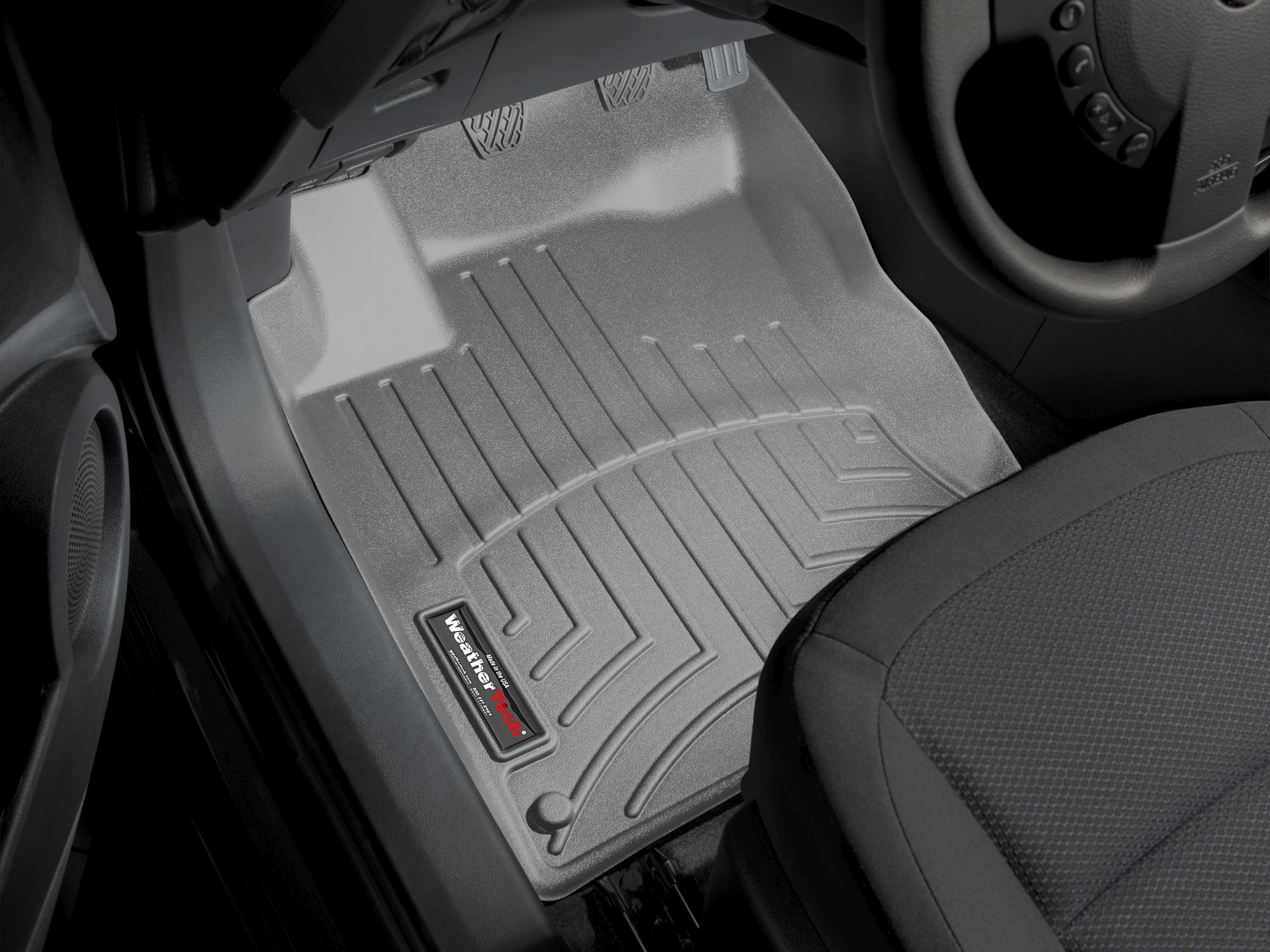 Tappeti gomma su misura bordo alto Nissan Qashqai +2 09>12 Grigio A2911