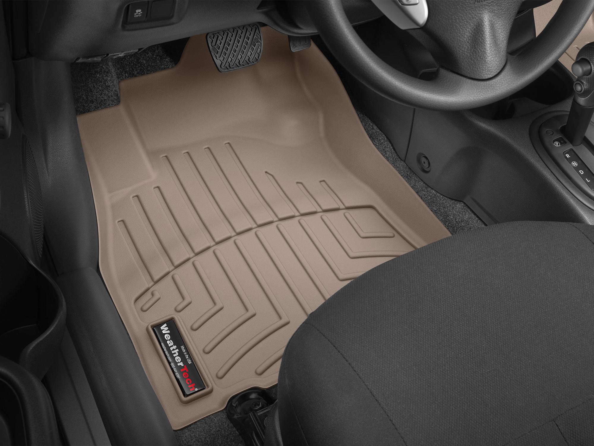 Tappeti gomma su misura bordo alto Nissan Note 14>17 Marrone A2903