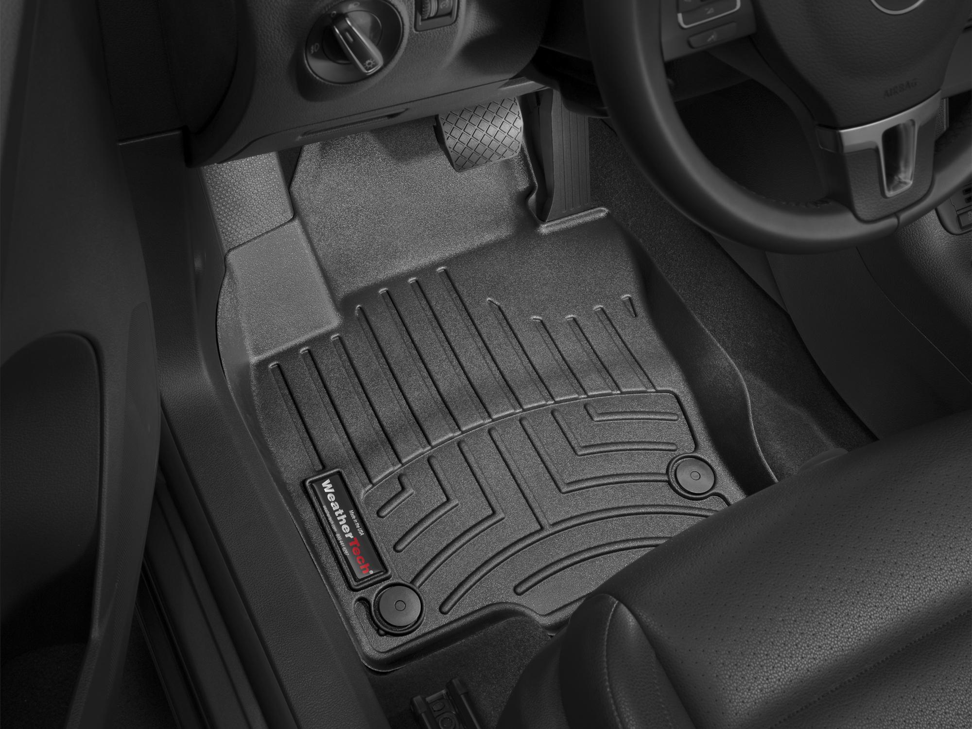 Tappeti gomma su misura bordo alto Volkswagen Tiguan 08>15 Nero A4265*