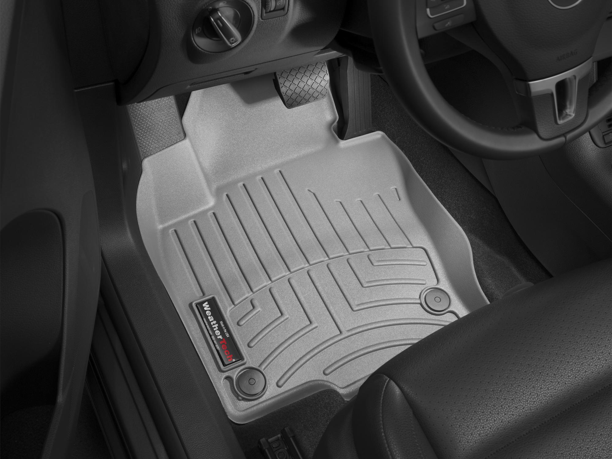 Tappeti gomma su misura bordo alto Volkswagen Tiguan 08>15 Grigio A4261*
