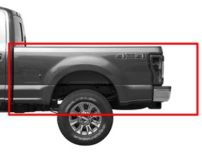 2017 ford f-250/f-350/f-450/f-550   weathertech alloycover hard