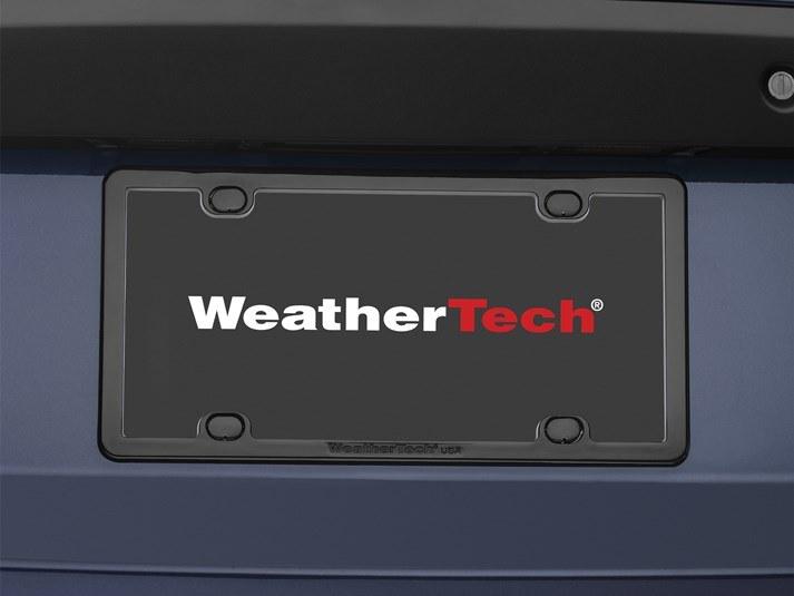 2015 toyota highlander license plate frame plate frame for all vehicles weathertechcom