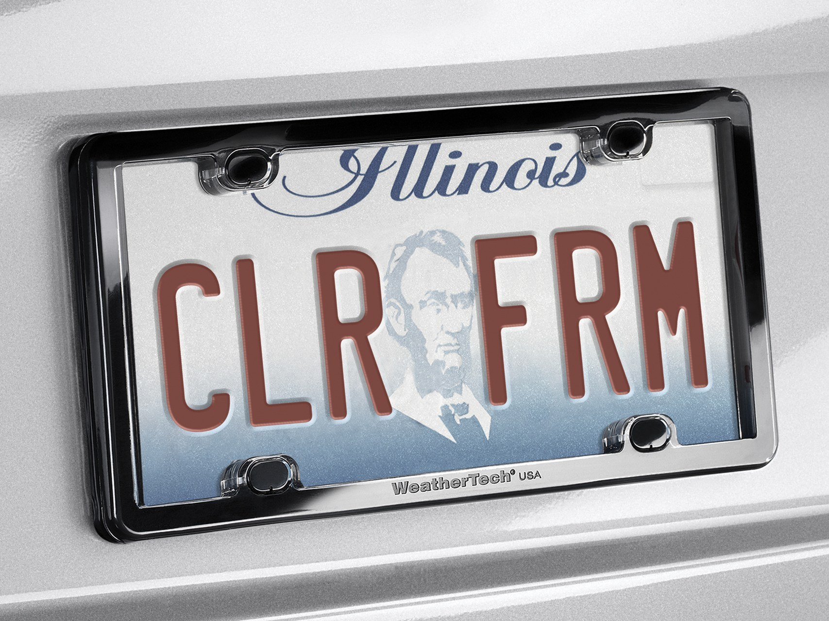 clearframe license plate frame