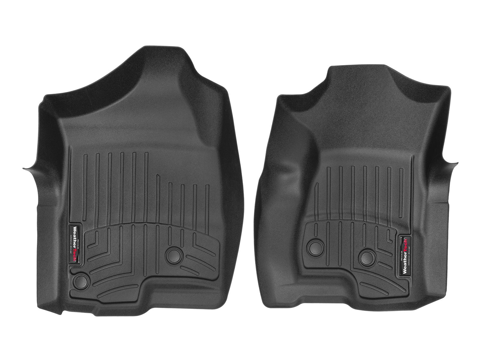Tappeti gomma su misura bordo alto Chevrolet Silverado 1999>06 Nero A204