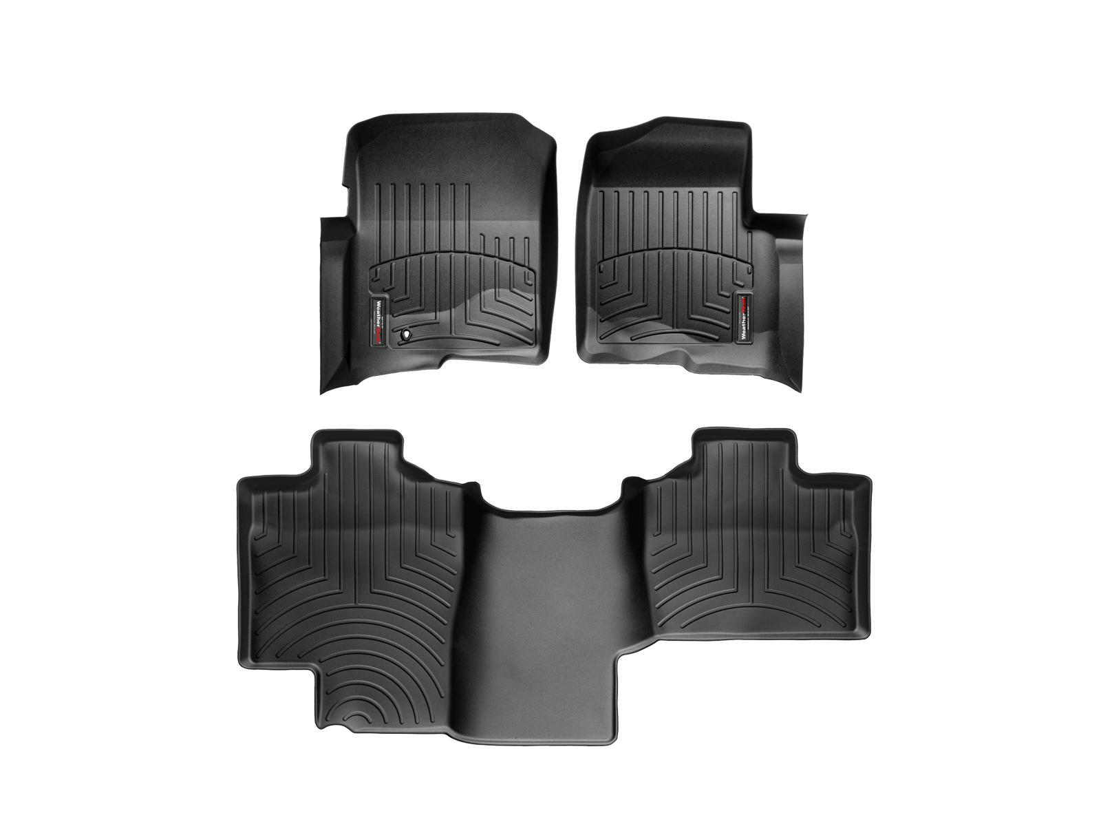 Tappeti gomma su misura bordo alto Ford F-150 04>04 Nero A888*