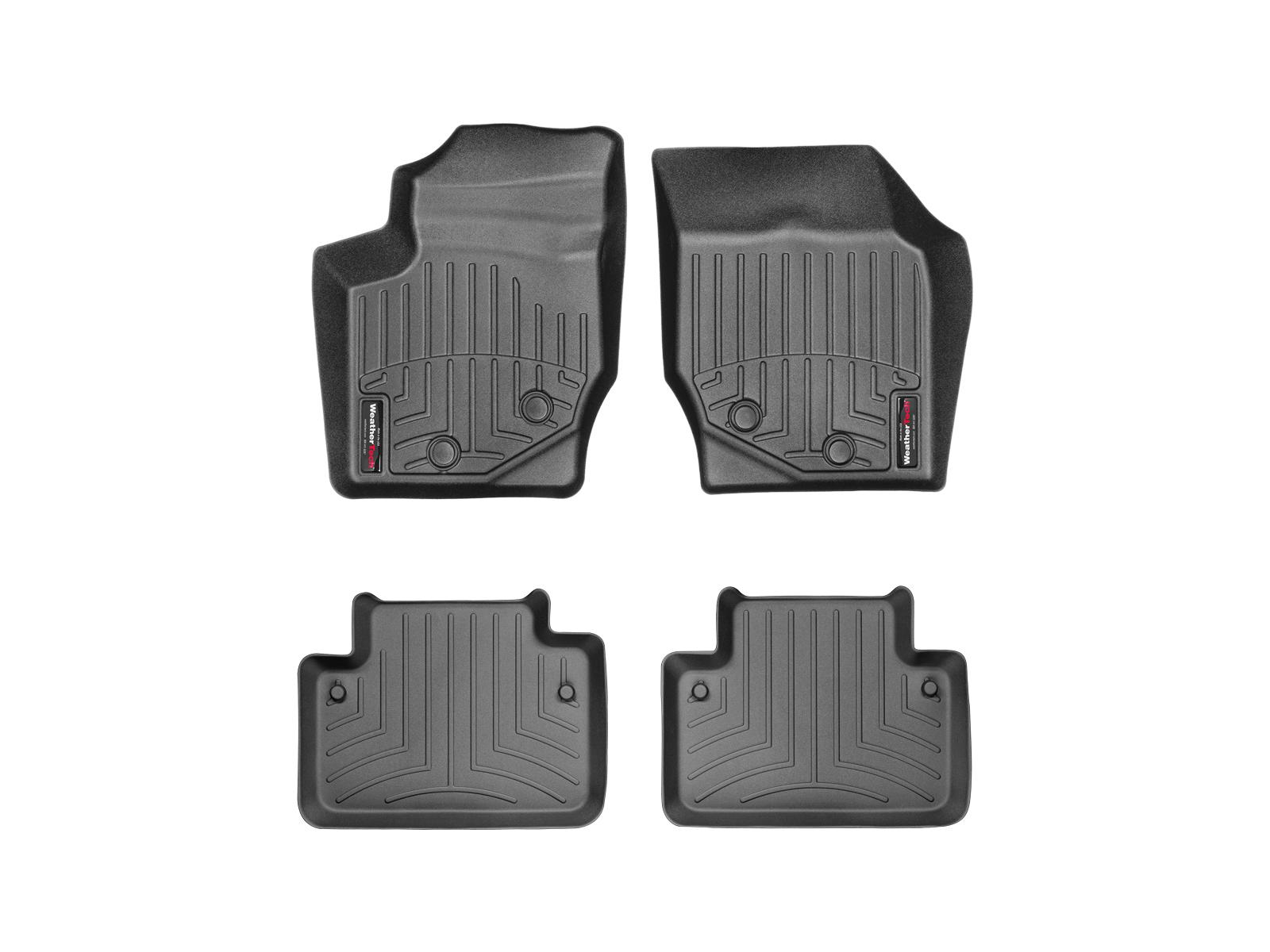 Tappeti gomma su misura bordo alto Volvo XC90 03>14 Nero A4448*