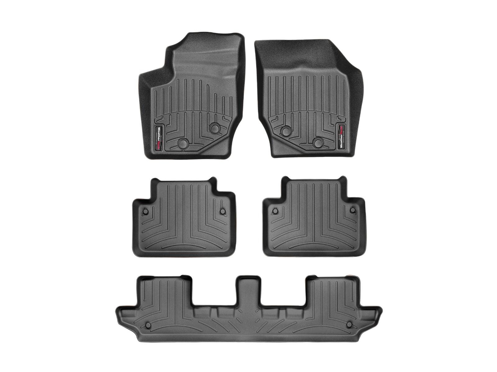 Tappeti gomma su misura bordo alto Volvo XC90 03>14 Nero A4450*