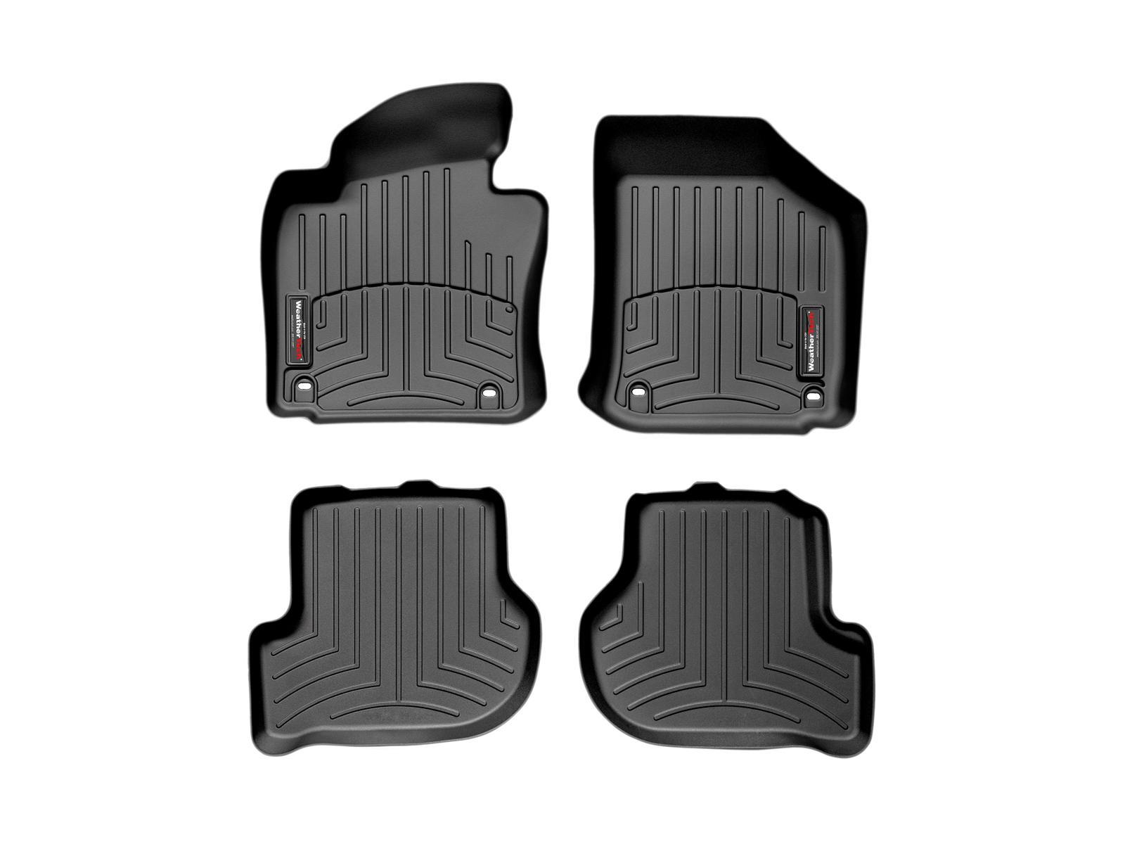 Tappeti gomma su misura bordo alto Volkswagen Golf GT 05>09 Nero A4080*