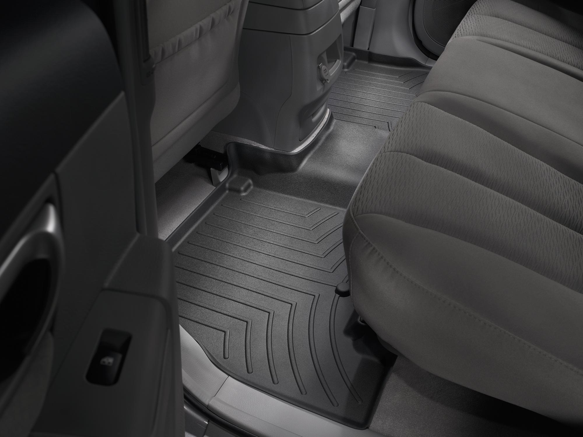 Tappeti gomma su misura bordo alto Hyundai Santa Fe 12>12 Nero A1488