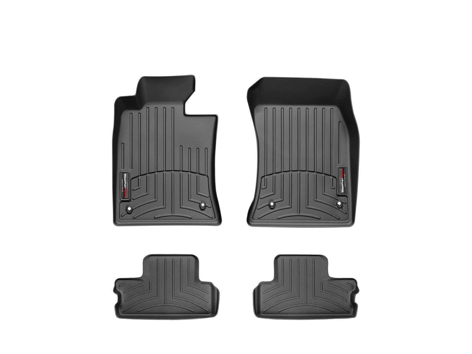 Tappeti gomma su misura bordo alto MINI Coupe 12>15 Nero A2711*