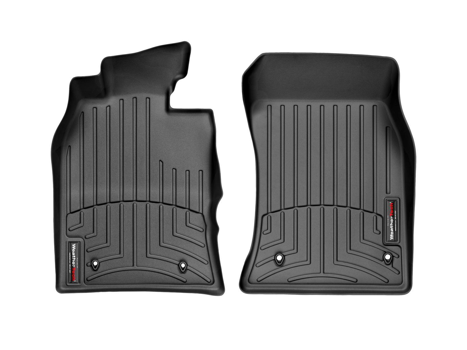Tappeti gomma su misura bordo alto MINI Cooper / Cooper S 02>06 Nero A2666*