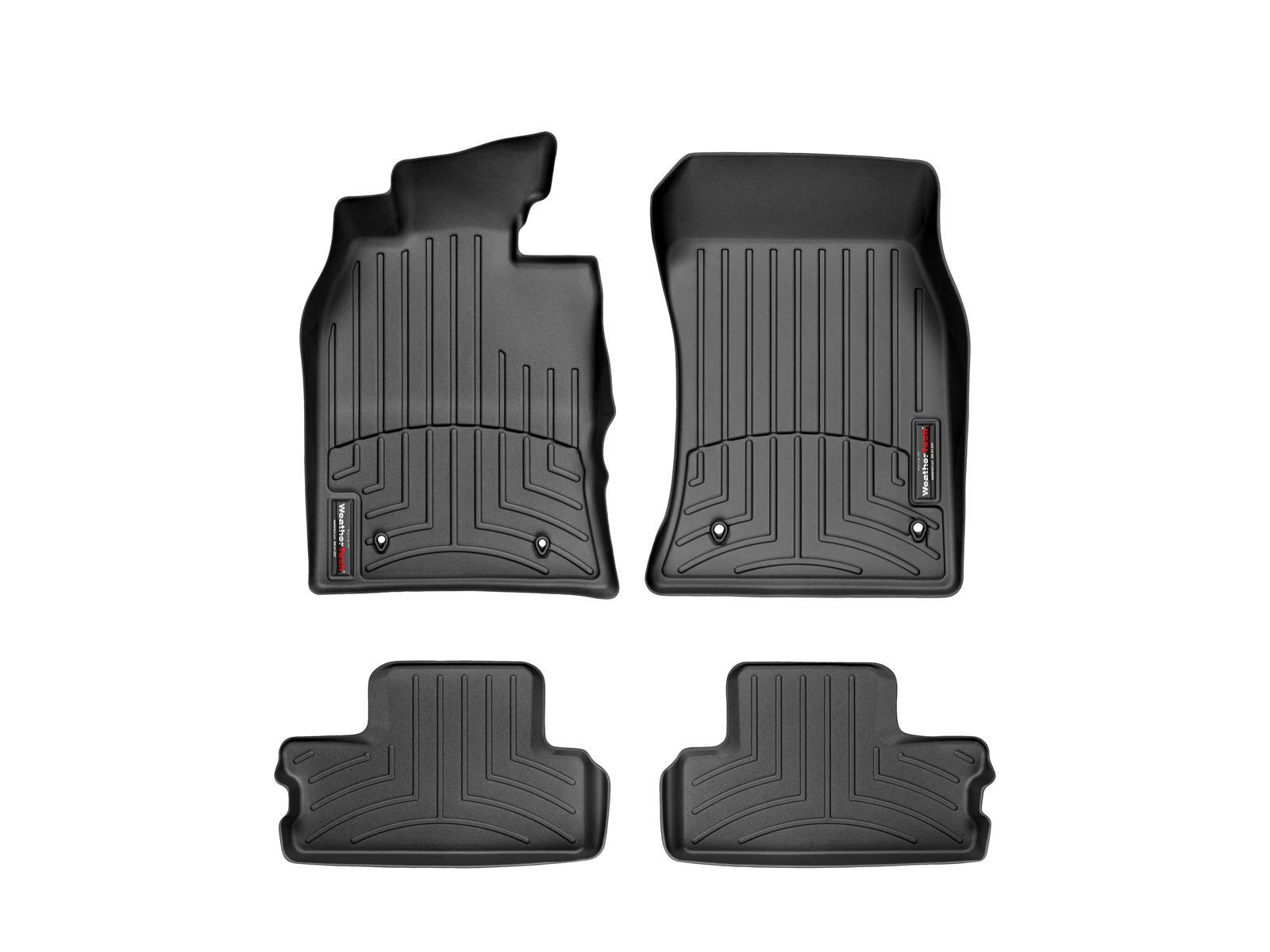 Tappeti gomma su misura bordo alto MINI Cooper / Cooper S 02>06 Nero A2667*