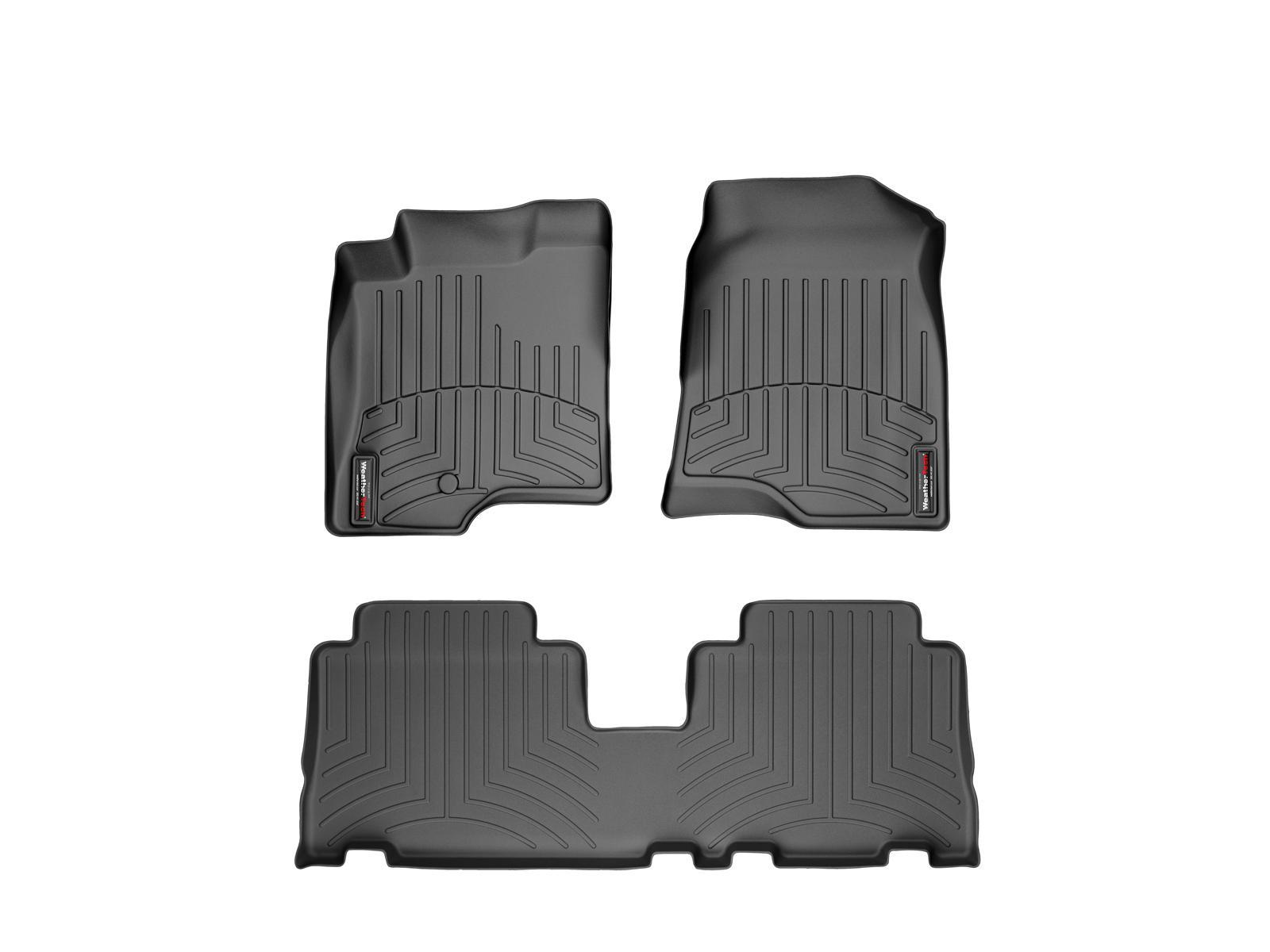 Tappeti gomma su misura bordo alto Chevrolet Captiva 06>11 Nero A112*
