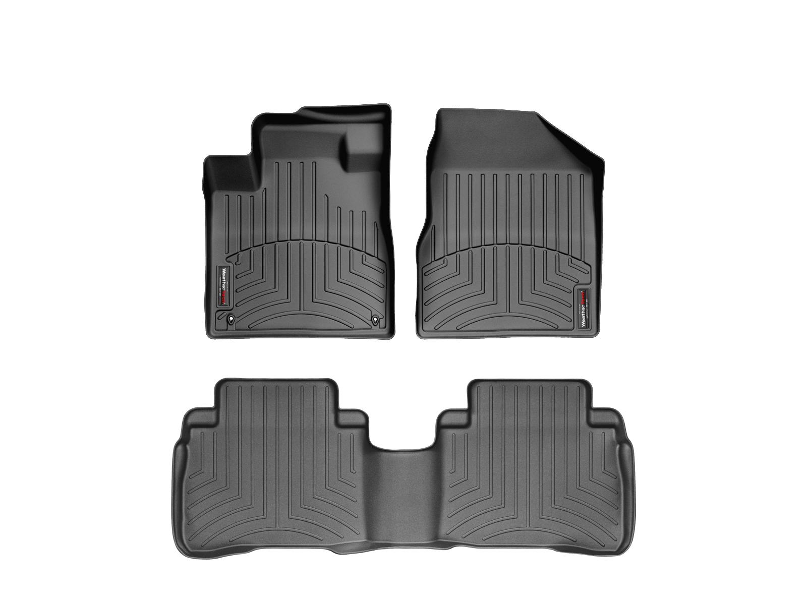 Tappeti gomma su misura bordo alto Nissan Murano 08>14 Nero A2891