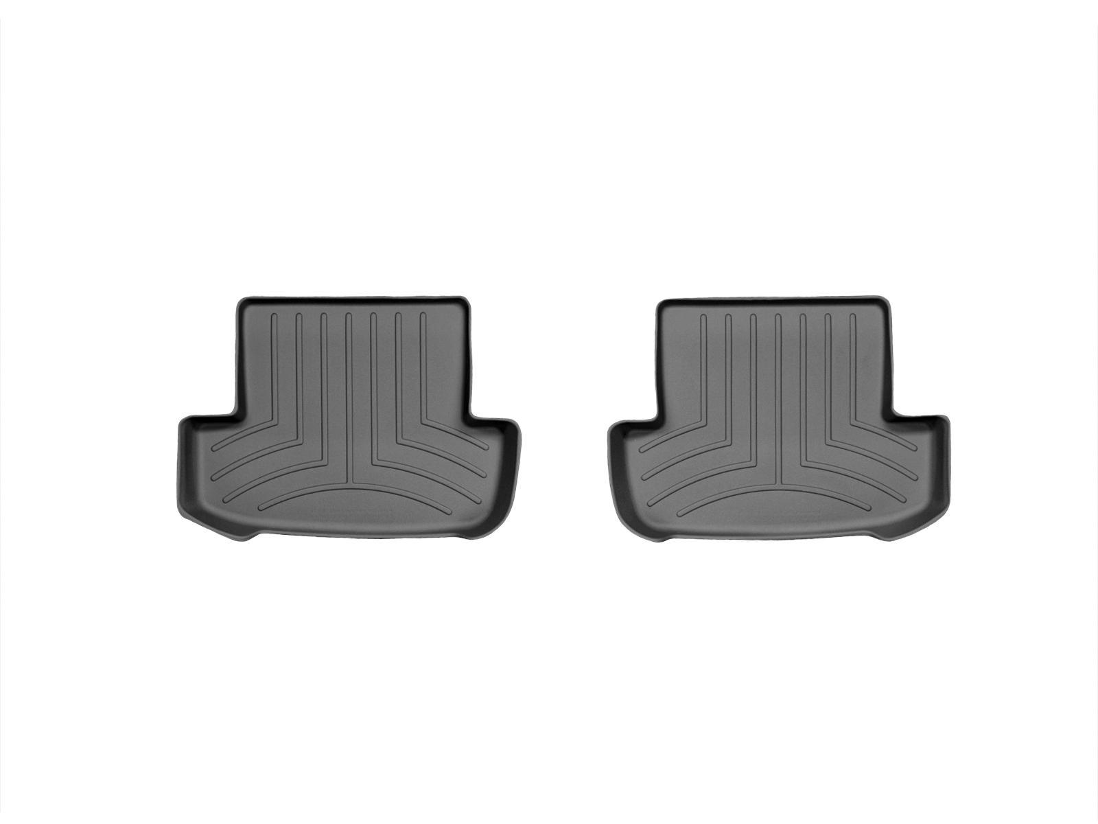 Tappeti gomma su misura bordo alto Mercedes E-Class 12>12 Nero A2397*