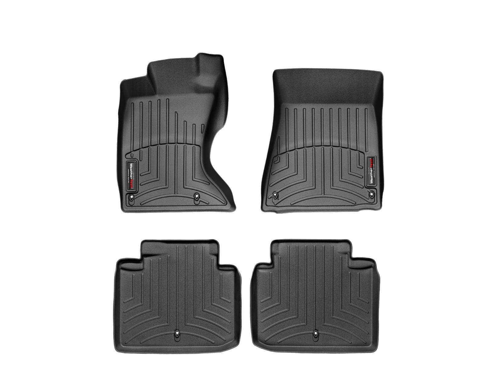 Tappeti gomma su misura bordo alto Lexus GS 350 / GS 460 05>11 Nero A2030