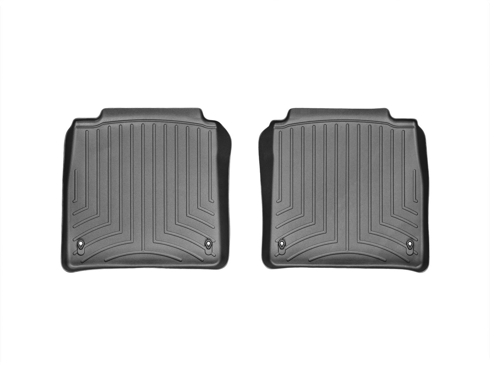 Tappeti gomma su misura bordo alto Lexus LS 07>12 Nero A2067