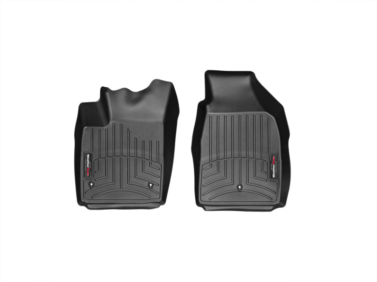 Tappeti gomma su misura bordo alto Fiat 500C 09>17 Nero A766*