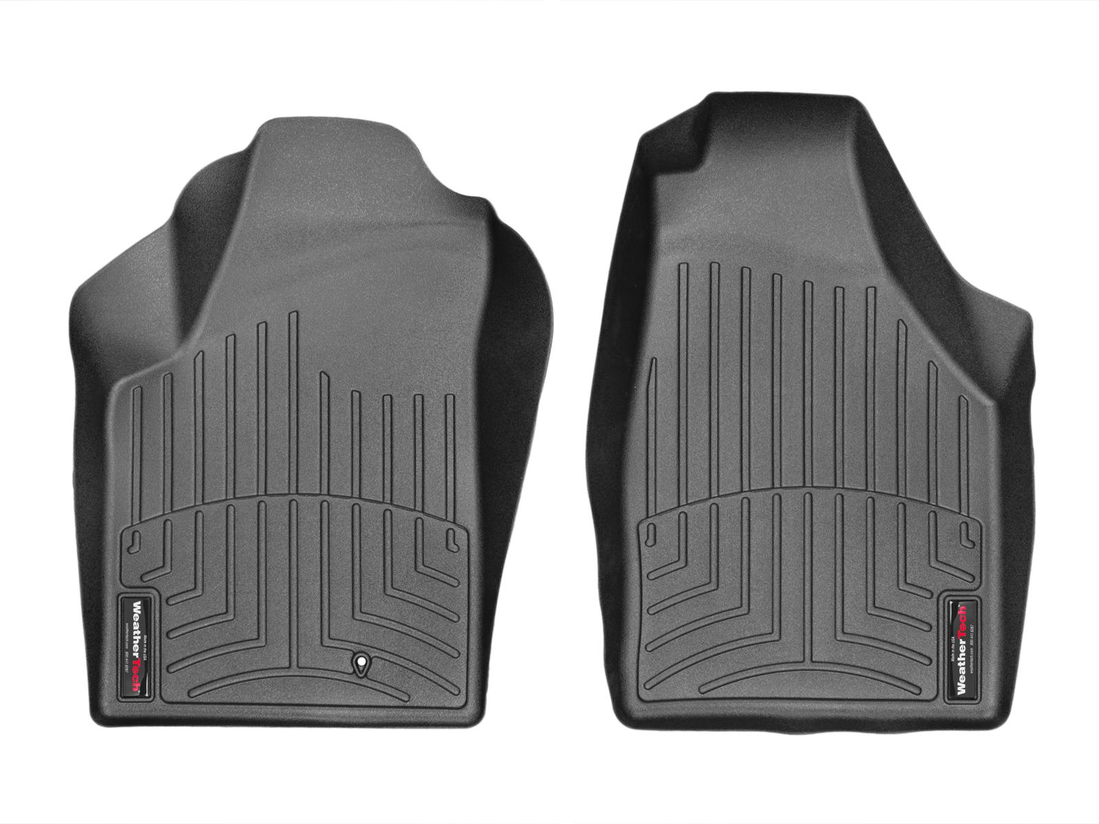 Tappeti gomma su misura bordo alto Fiat Idea 03>13 Nero A804*