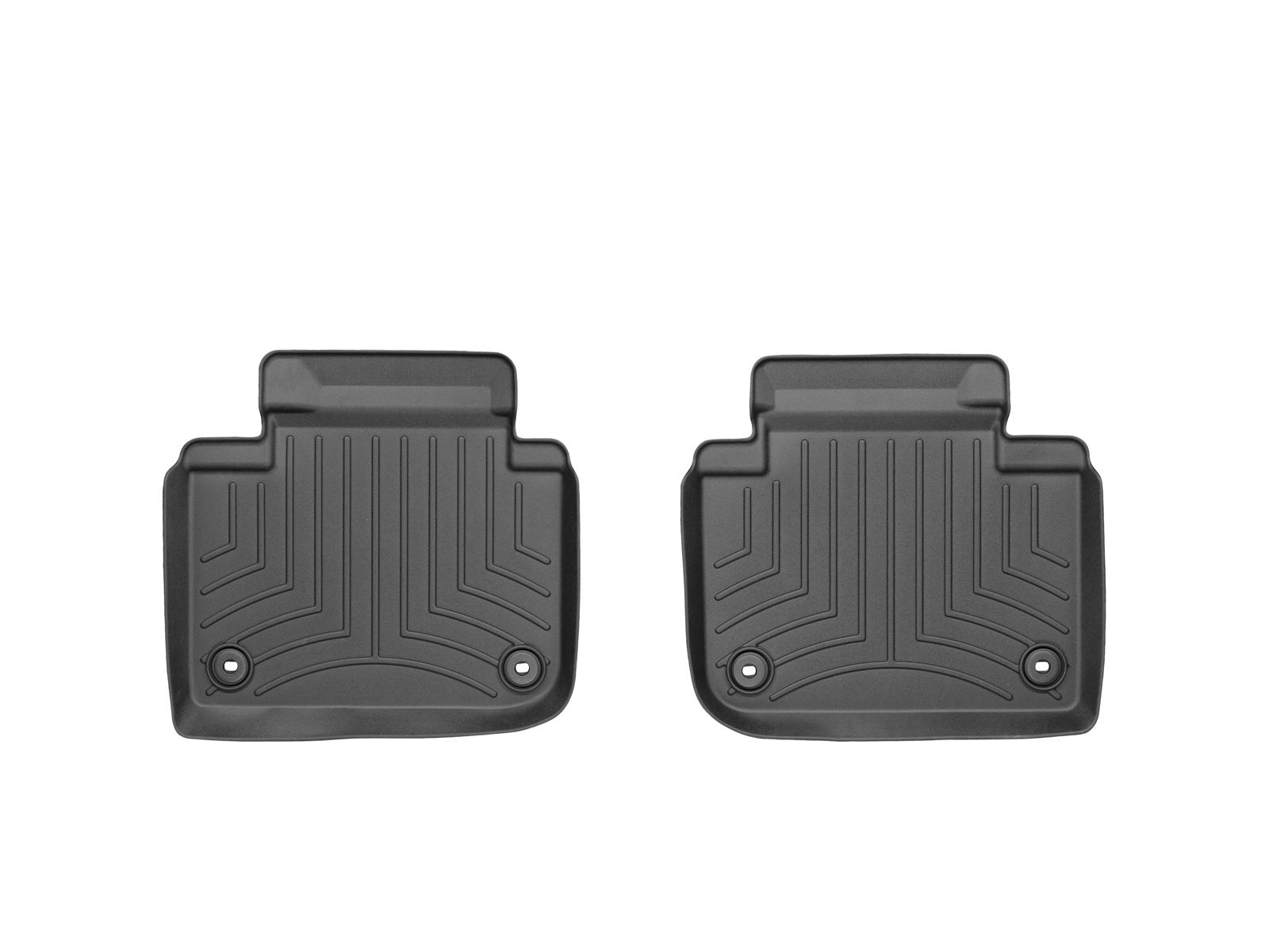 Tappeti gomma su misura bordo alto Lexus GS 12>12 Nero A2016*