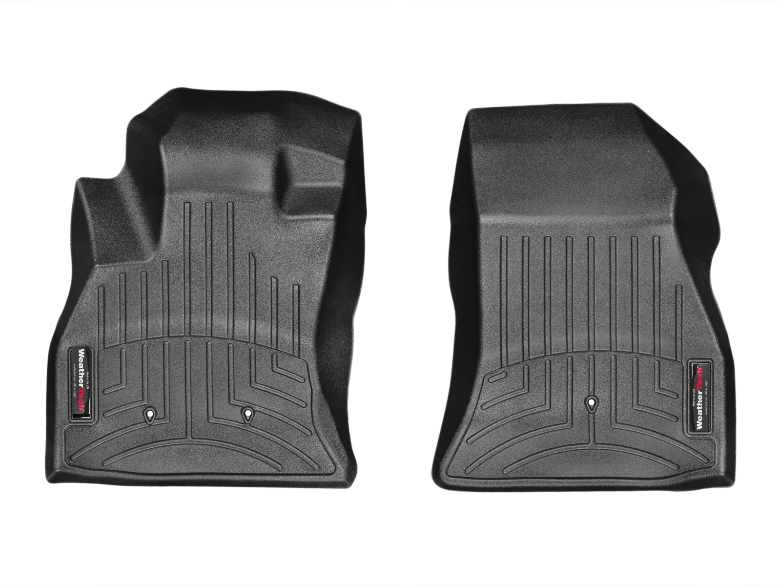 Tappeti gomma su misura bordo alto Fiat 500L Trekking 13>17 Nero A775*