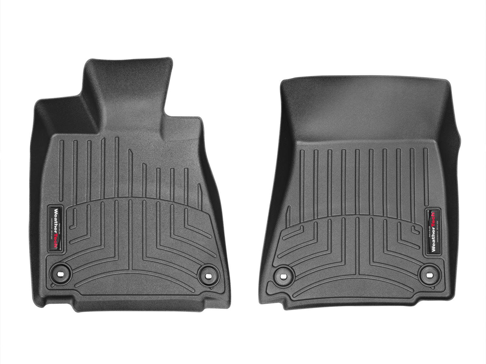Tappeti gomma su misura bordo alto Lexus GS 13>17 Nero A2017*