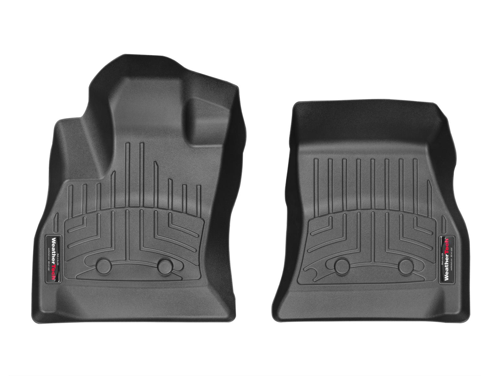 Tappeti gomma su misura bordo alto Fiat 500L 12>17 Nero A770*