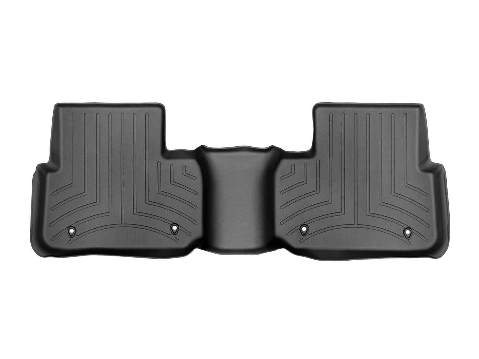 Tappeti gomma su misura bordo alto Land Rover 15>17 Nero A2003*