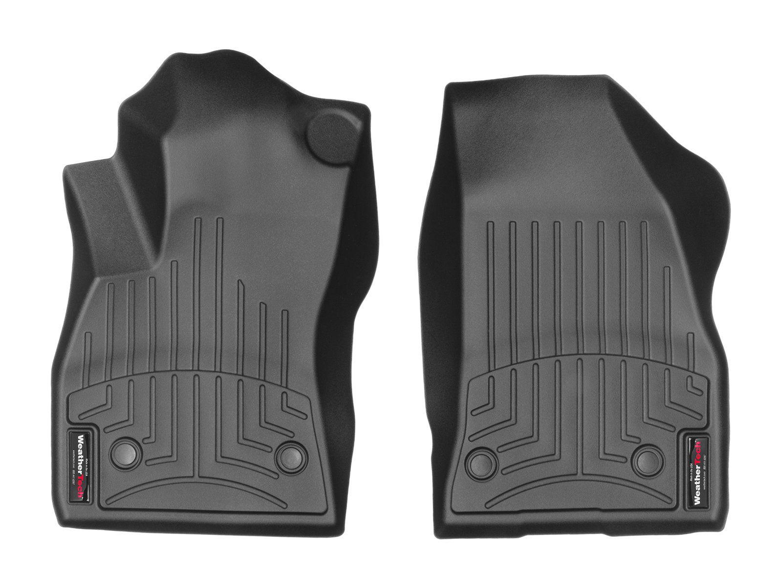 Tappeti gomma su misura bordo alto Fiat Doblo 10>17 Nero A781*