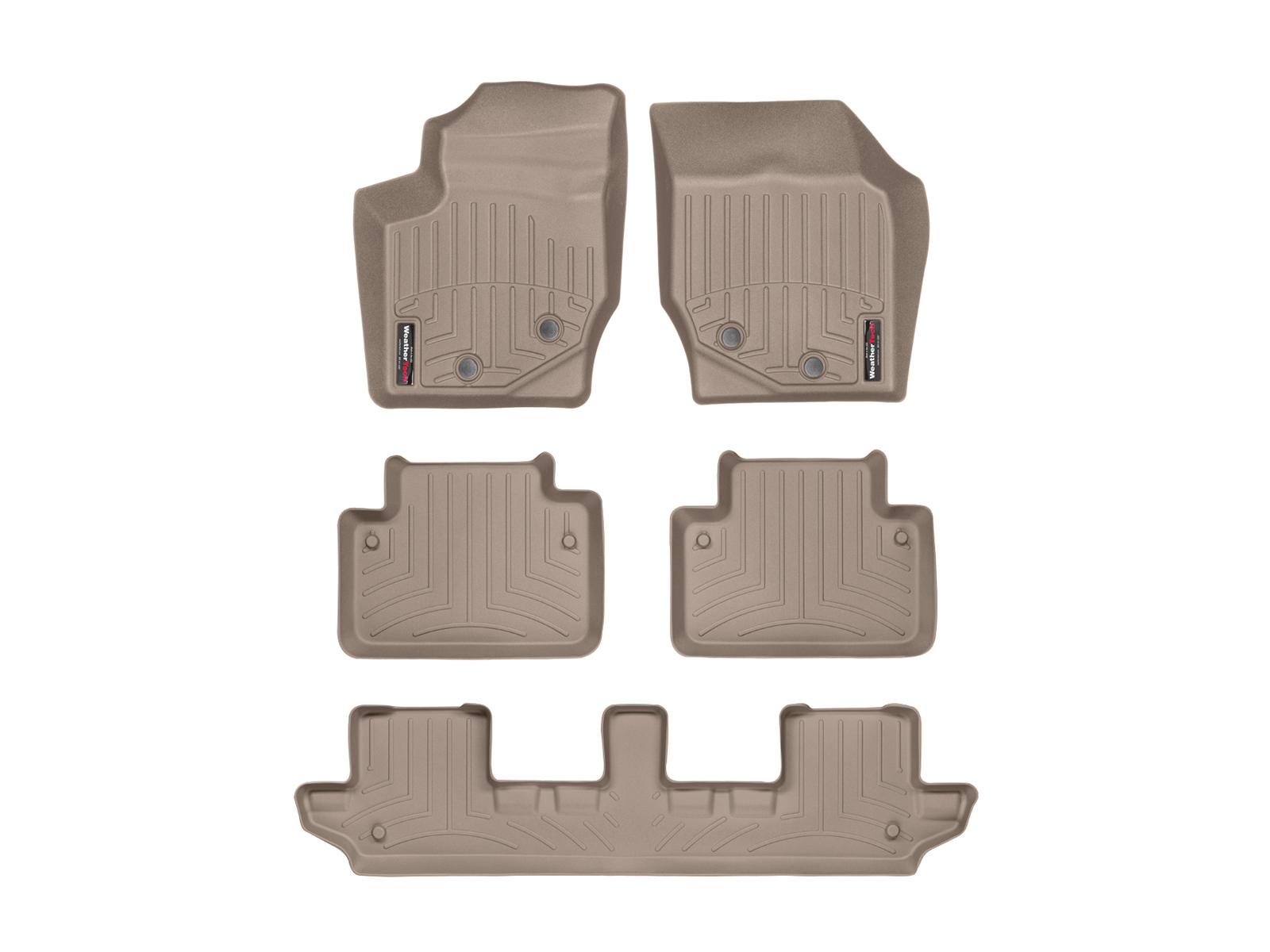 Tappeti gomma su misura bordo alto Volvo XC90 03>14 Marrone A4445*