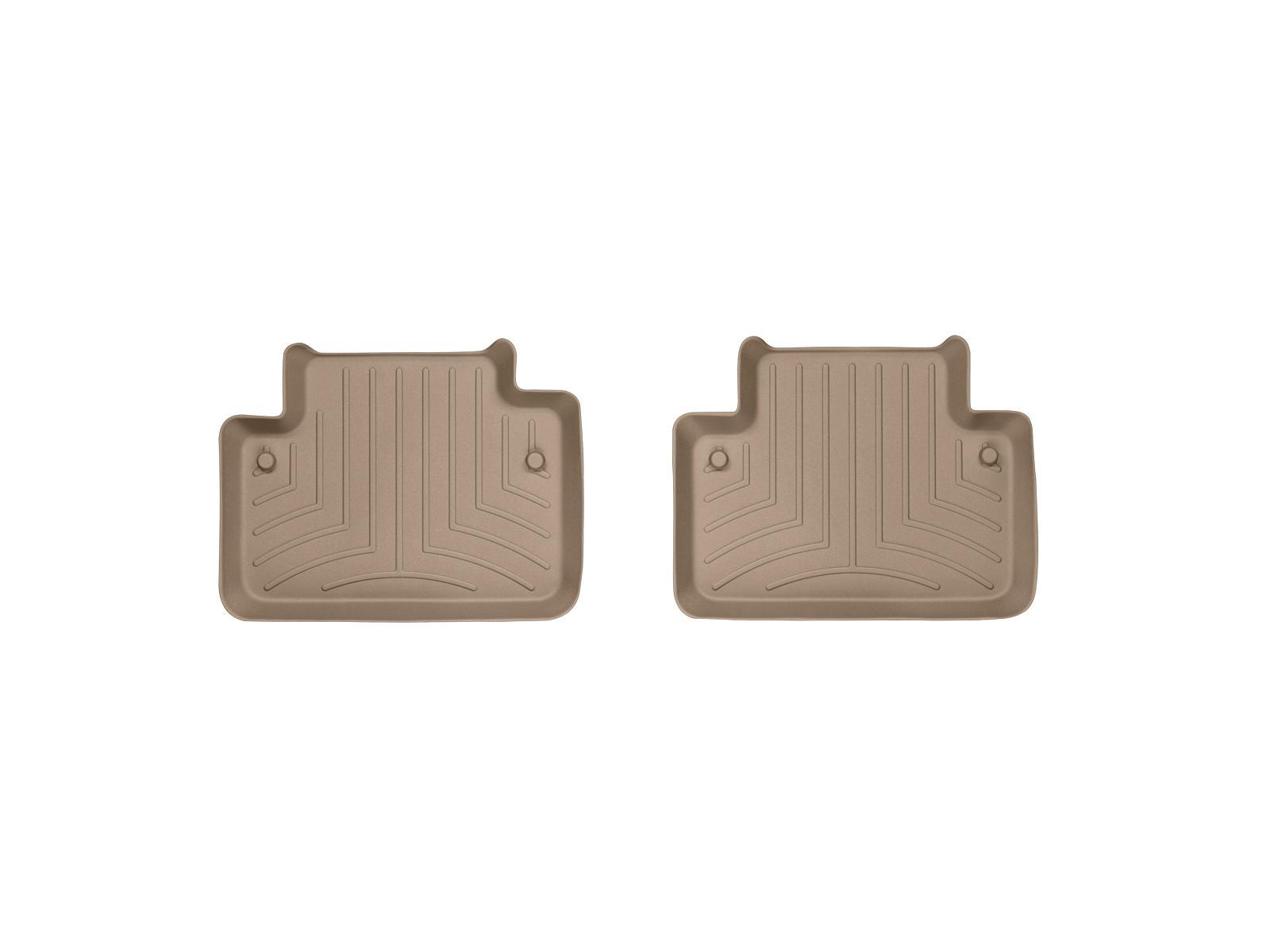 Tappeti gomma su misura bordo alto Volvo XC90 03>14 Marrone A4444*