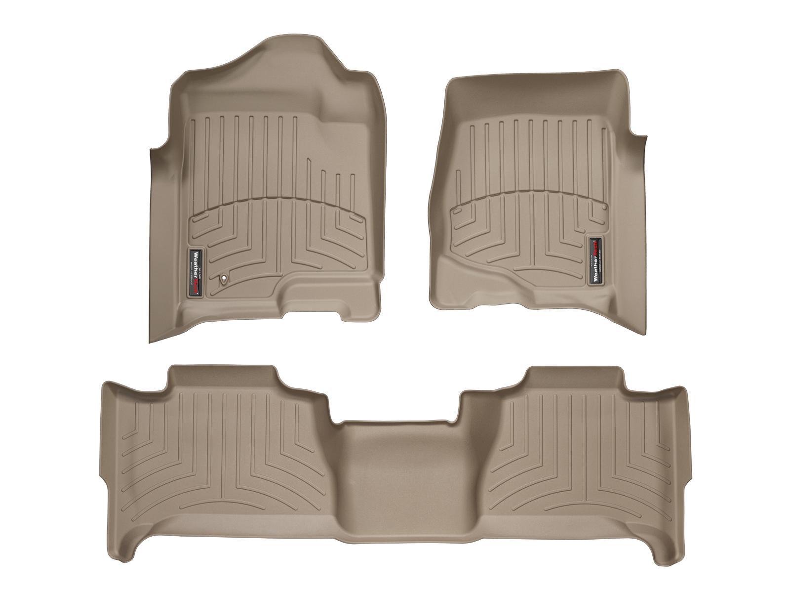 Tappeti gomma su misura bordo alto Cadillac Escalade 14>14 Marrone A23*
