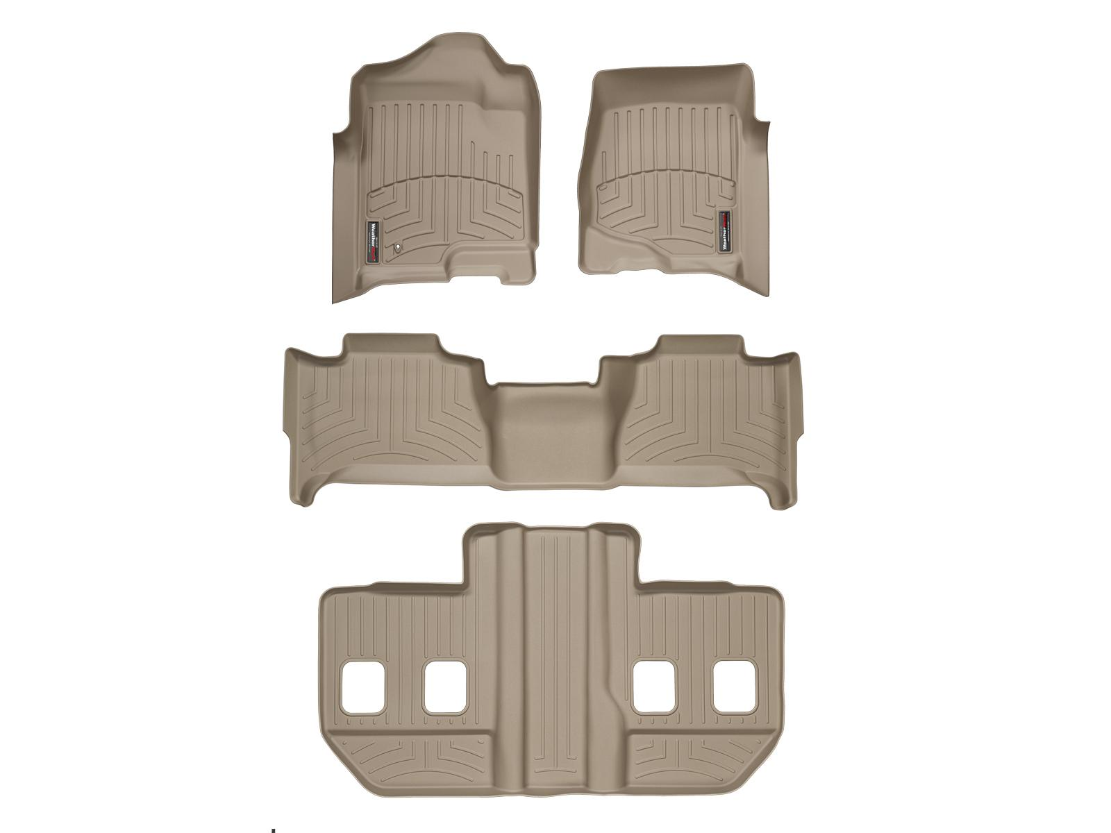 Tappeti gomma su misura bordo alto Cadillac Escalade ESV 07>10 Marrone A47*
