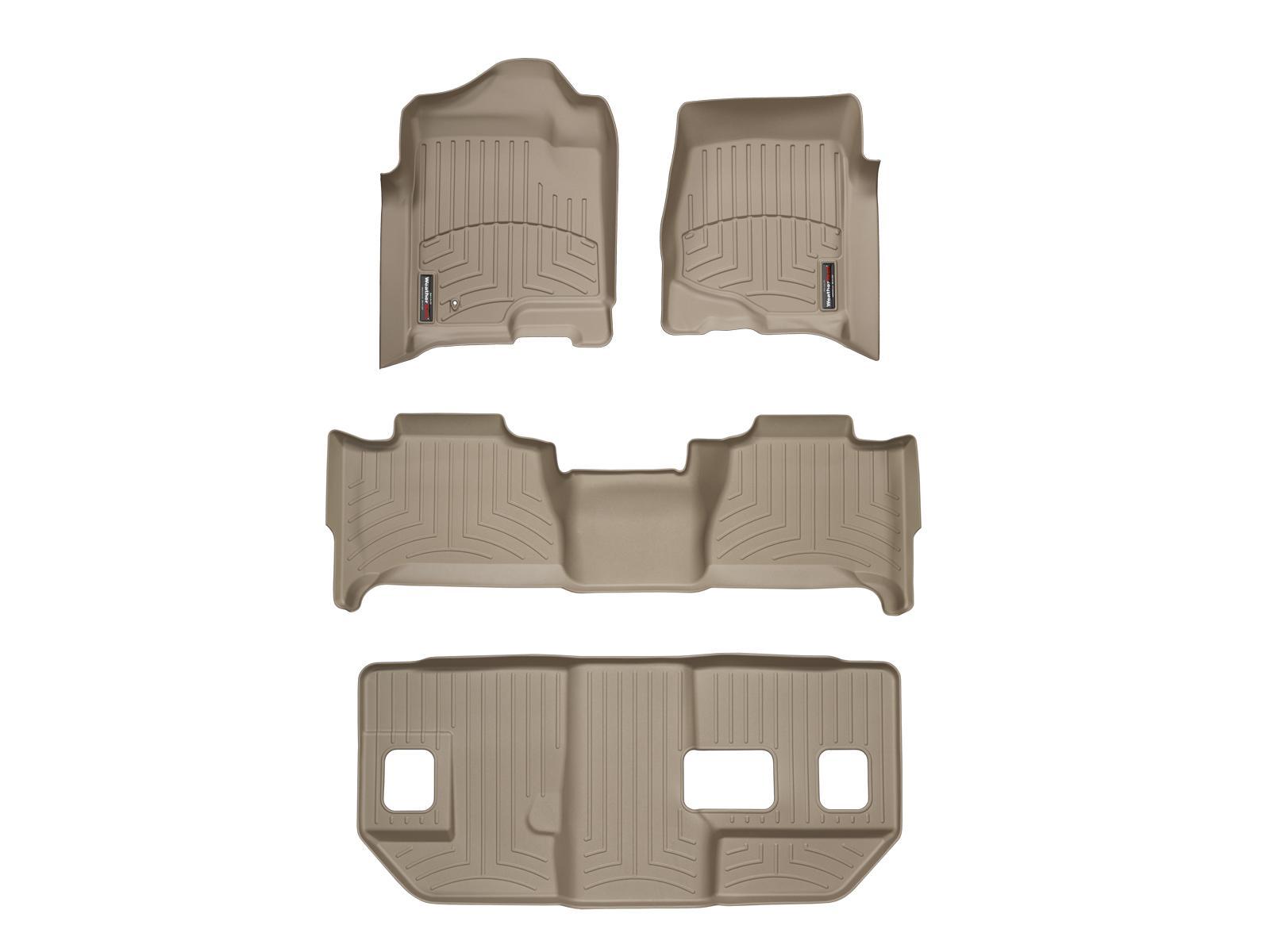 Tappeti gomma su misura bordo alto Cadillac Escalade ESV 07>10 Marrone A46*