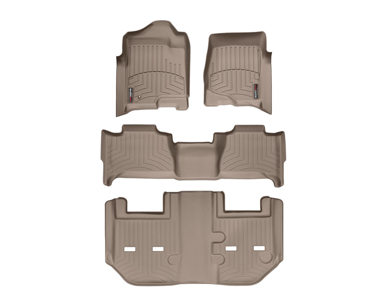 Tappeti gomma su misura bordo alto Cadillac Escalade ESV 11>14 Marrone A63*