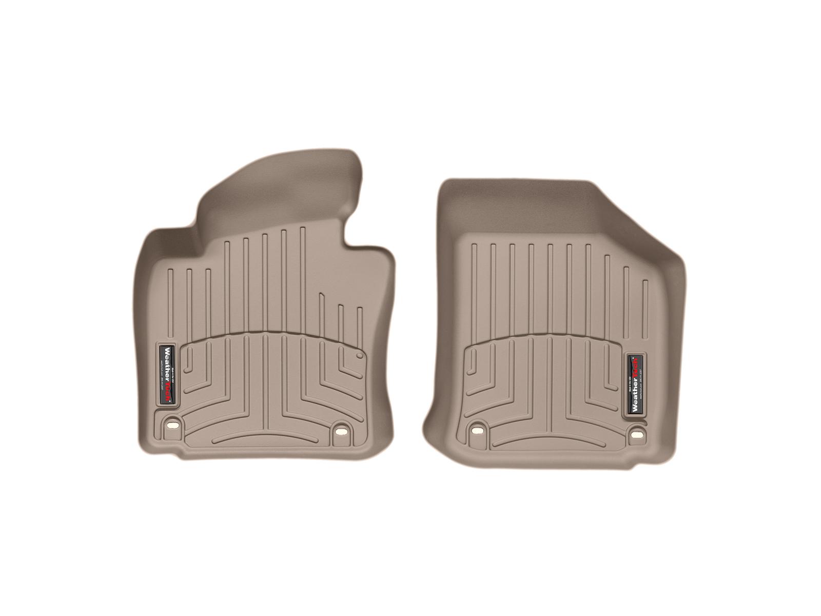 Tappeti gomma su misura bordo alto Volkswagen Golf GT 05>09 Marrone A4074*