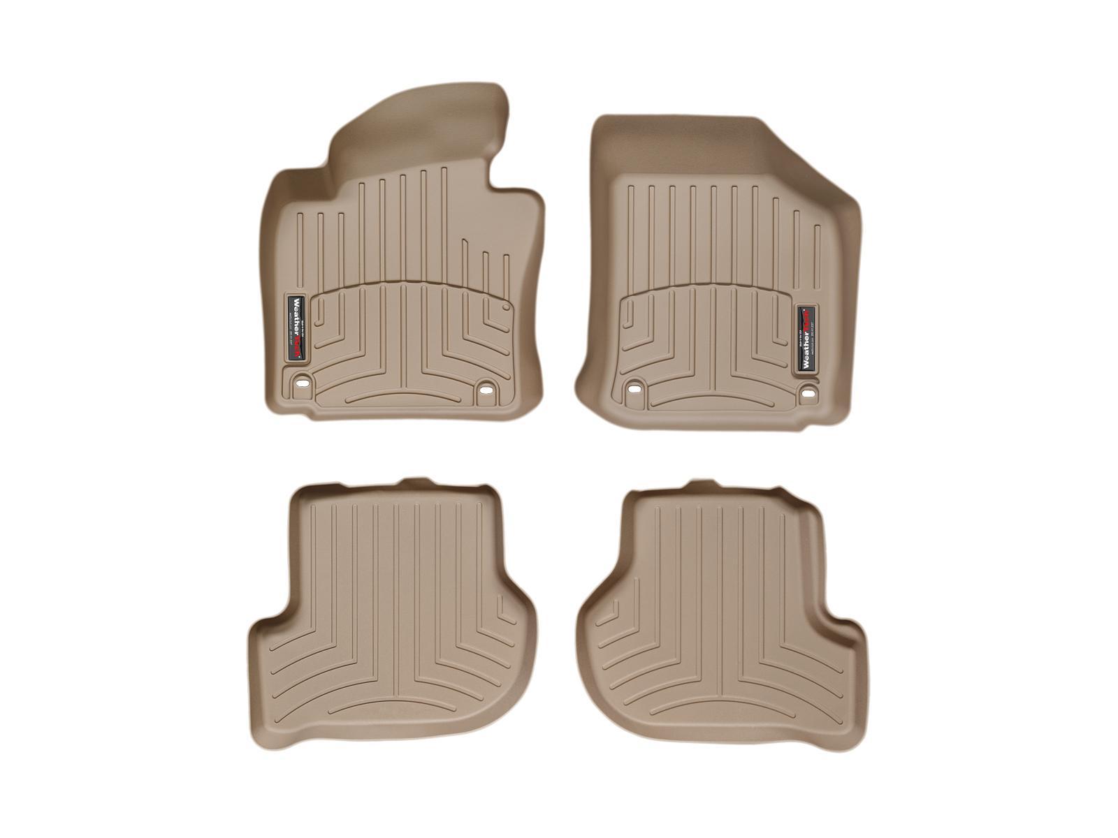 Tappeti gomma su misura bordo alto Volkswagen Golf 04>11 Marrone A4034*