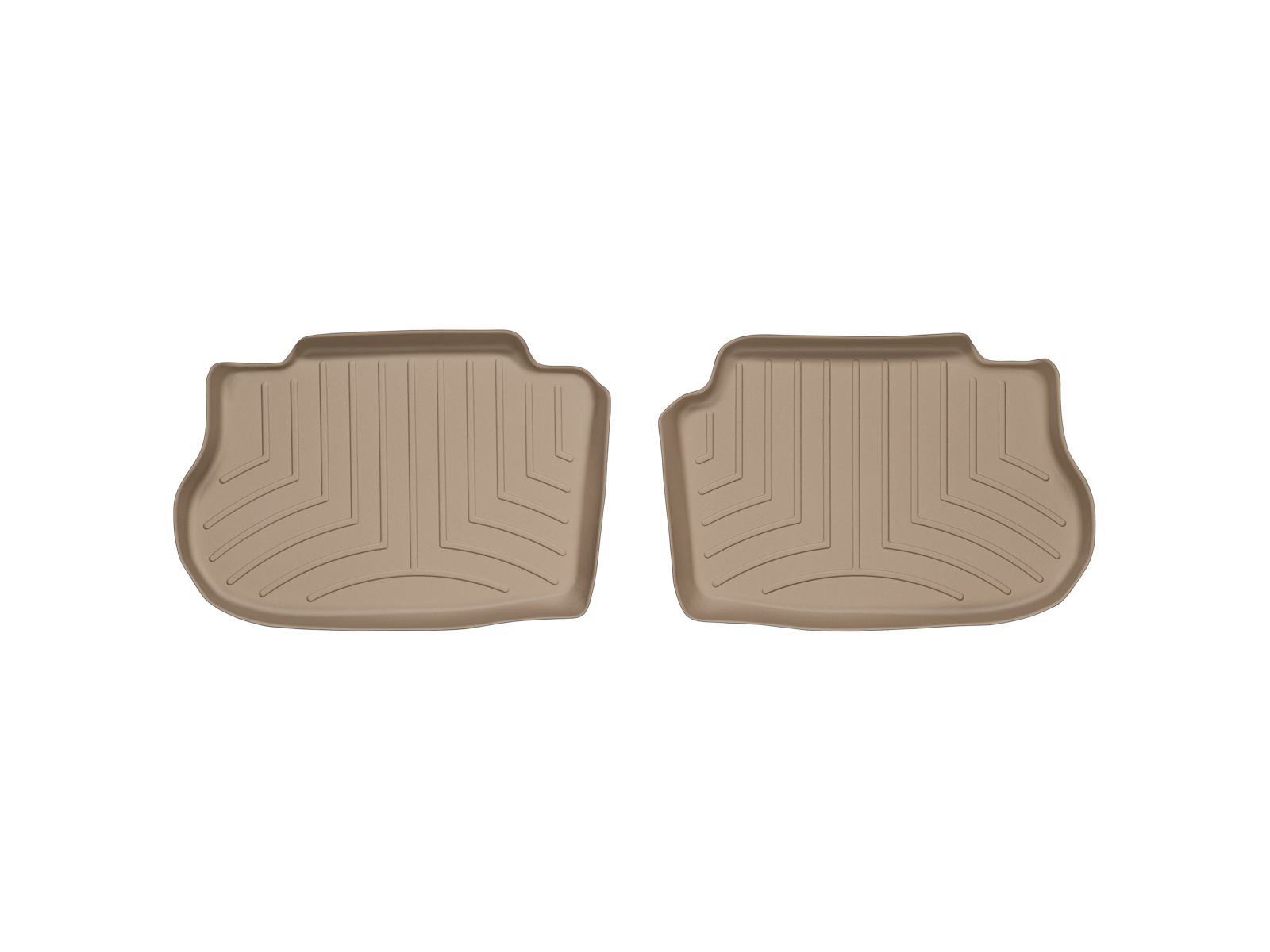 Tappeti gomma su misura bordo alto Infiniti FX 03>07 Marrone A1512
