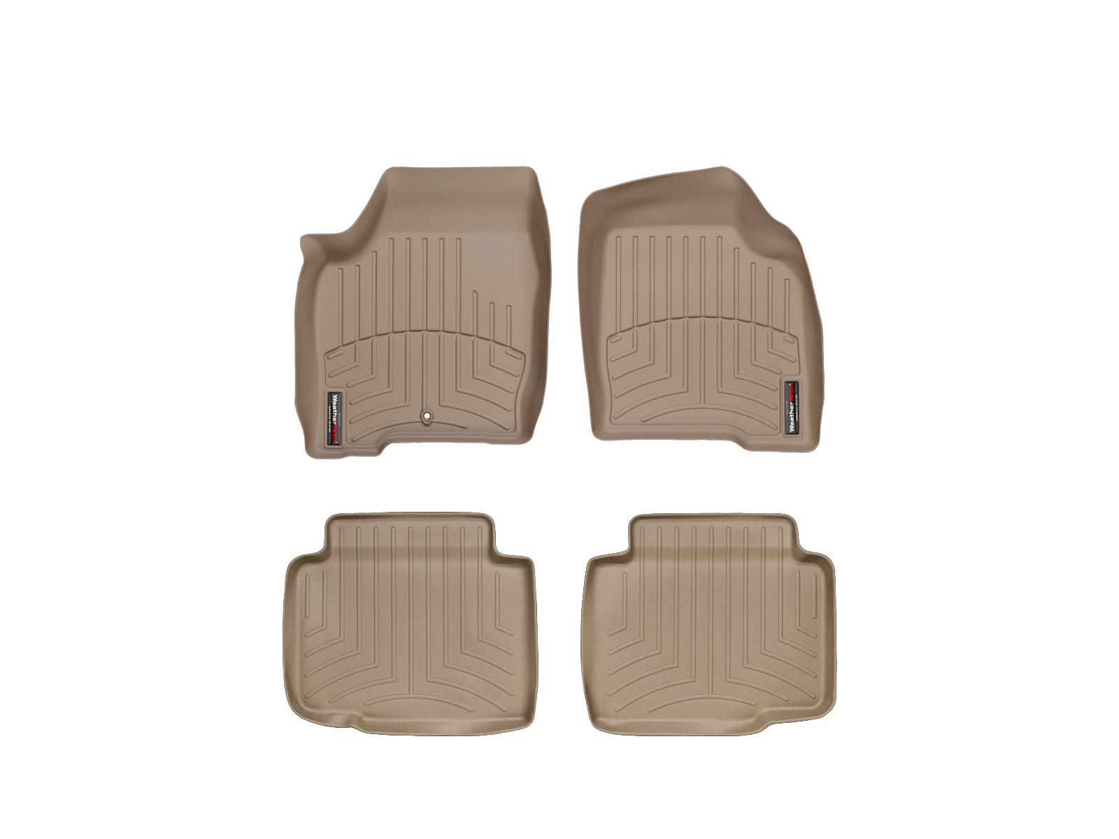 Tappeti gomma su misura bordo alto Chevrolet Impala Limit. 14>16 Marrone A134