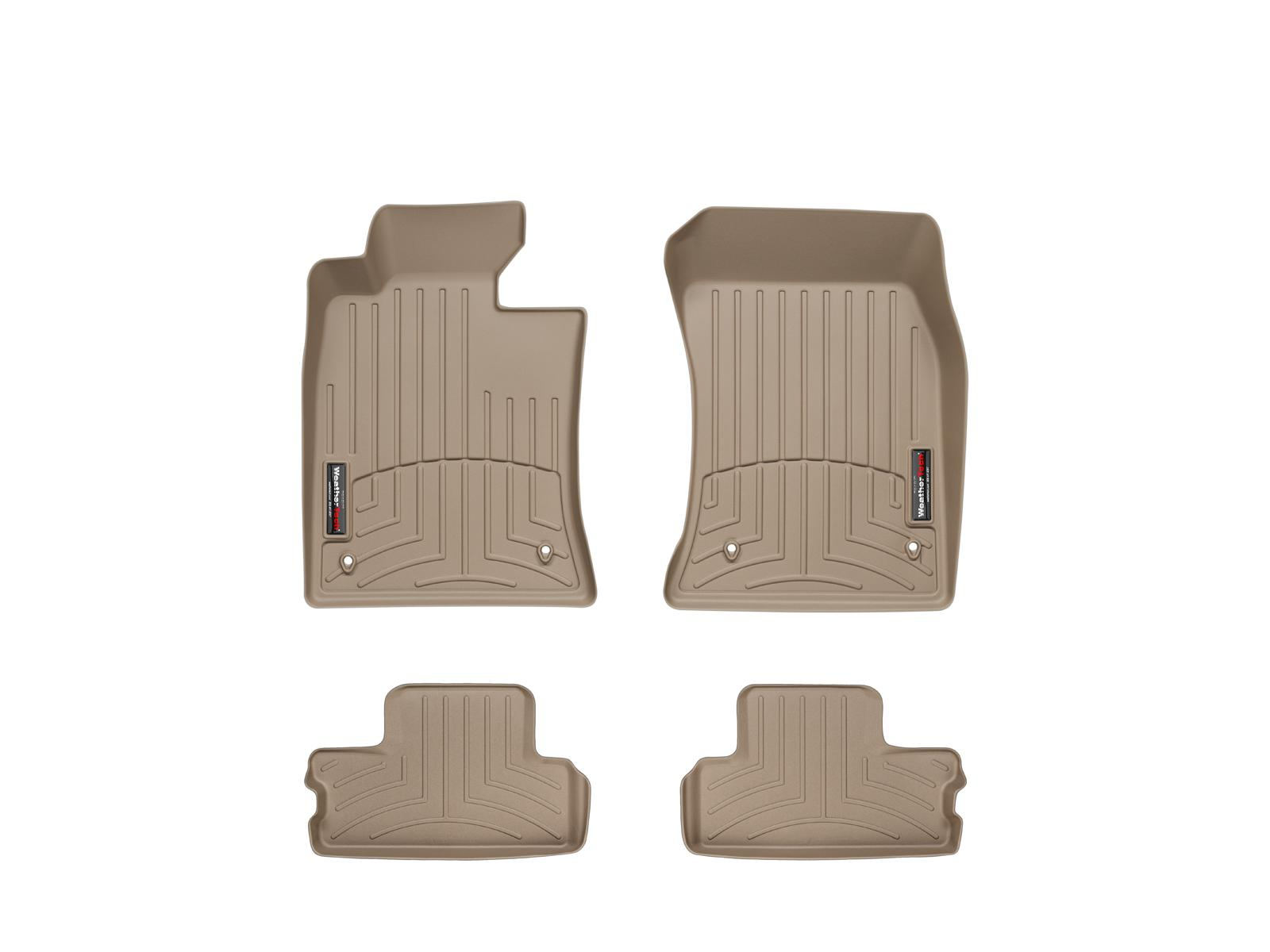 Tappeti gomma Weathertech bordo alto MINI Coupe 12>15 Marrone A2707