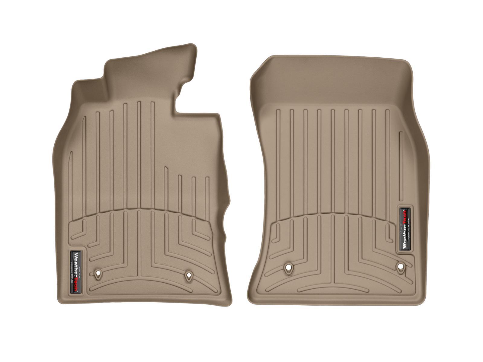 Tappeti gomma su misura bordo alto MINI Cooper / Cooper S 02>06 Marrone A2664*