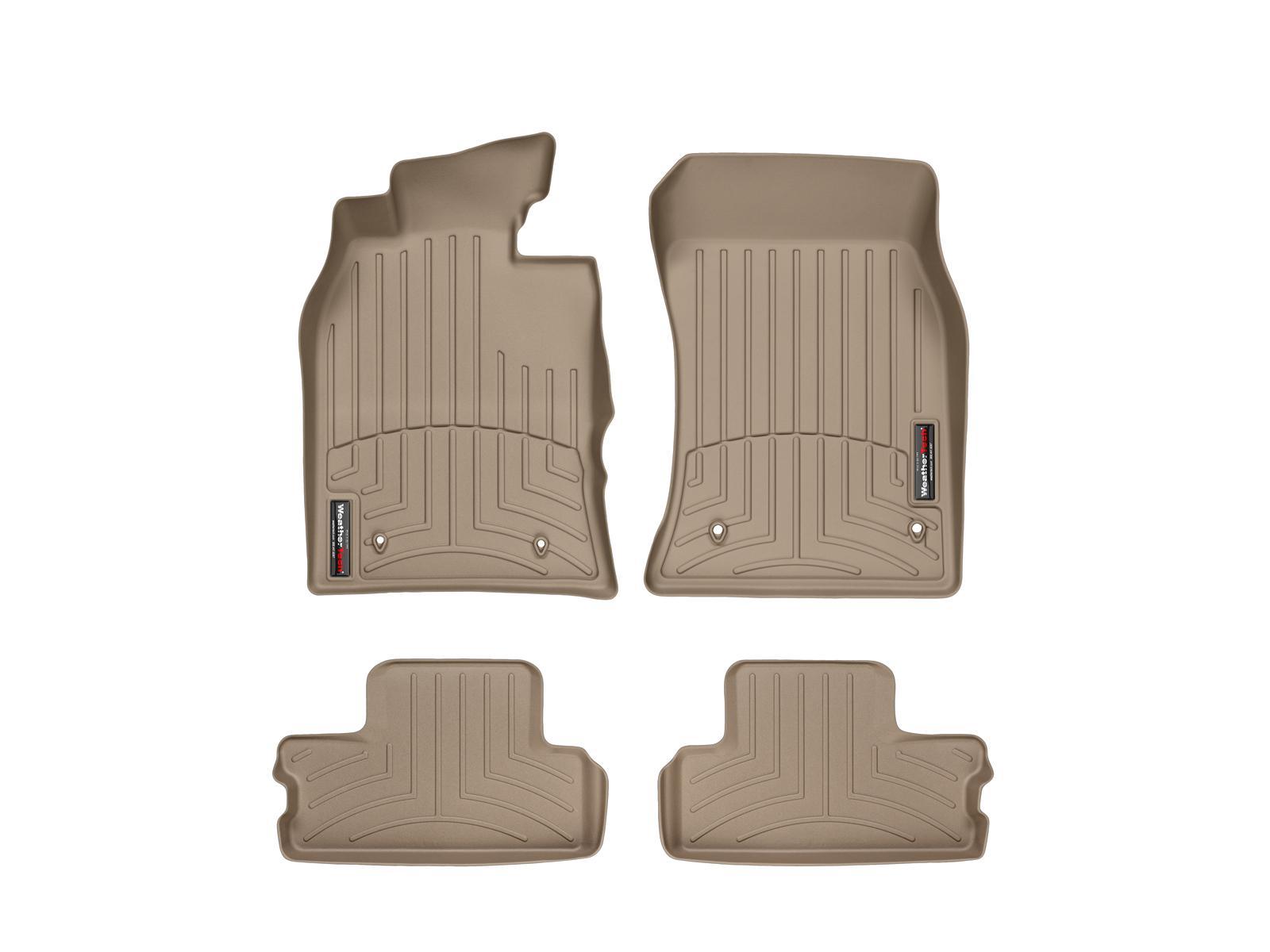 Tappeti gomma su misura bordo alto MINI Cooper / Cooper S 02>06 Marrone A2665*