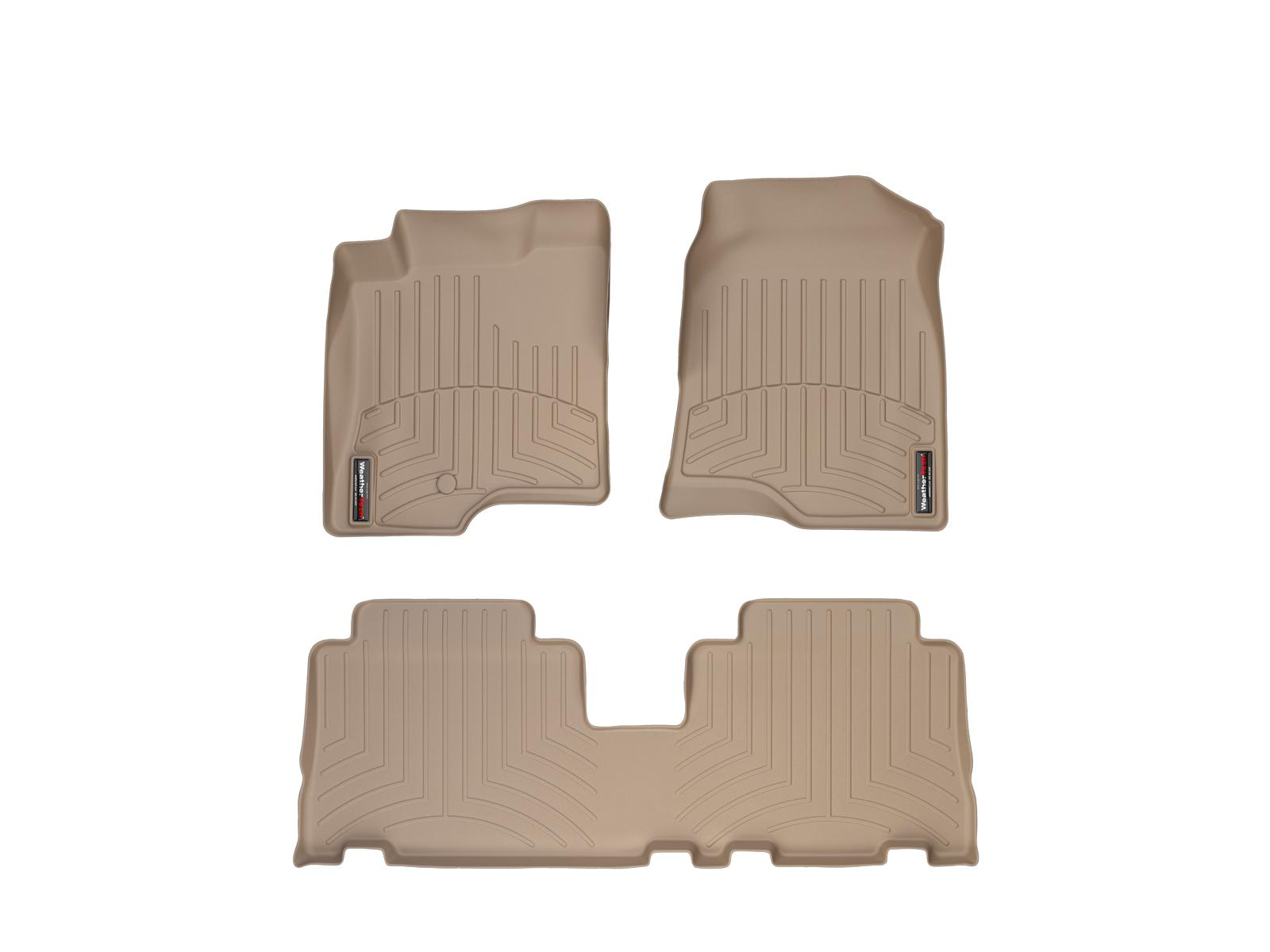 Tappeti gomma su misura bordo alto Chevrolet Captiva 06>11 Marrone A109*