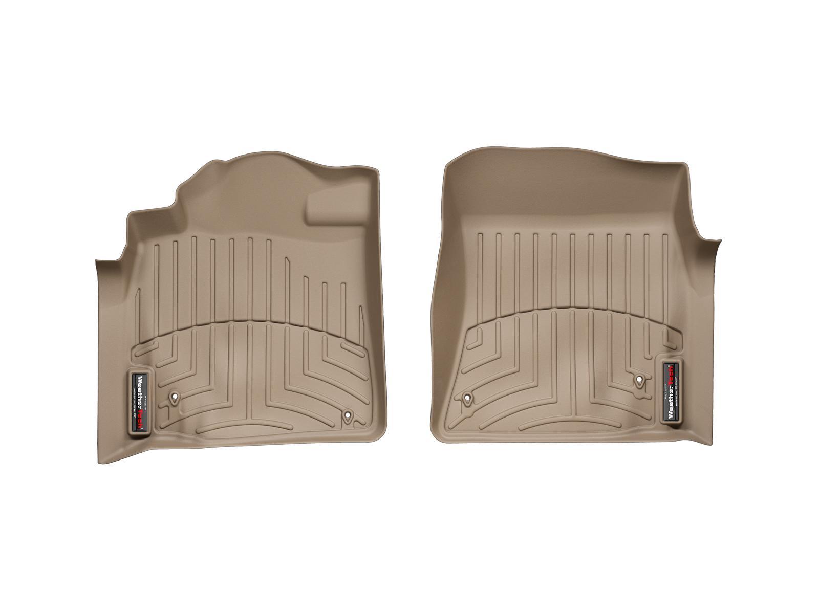 Tappeti gomma su misura bordo alto Toyota Land Cruiser V8 08>11 Marrone A3698*