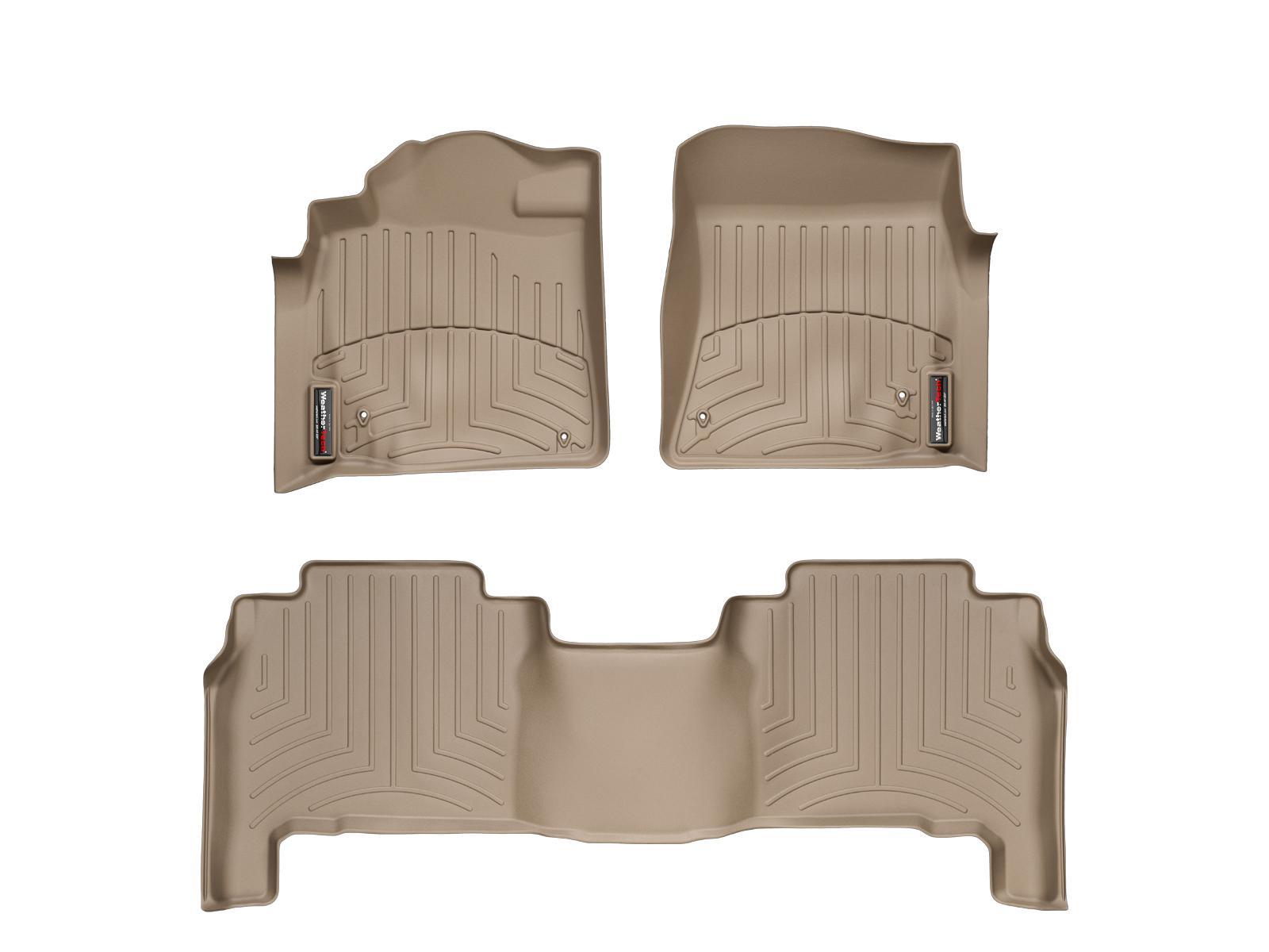 Tappeti gomma su misura bordo alto Toyota Land Cruiser V8 12>12 Marrone A3710*