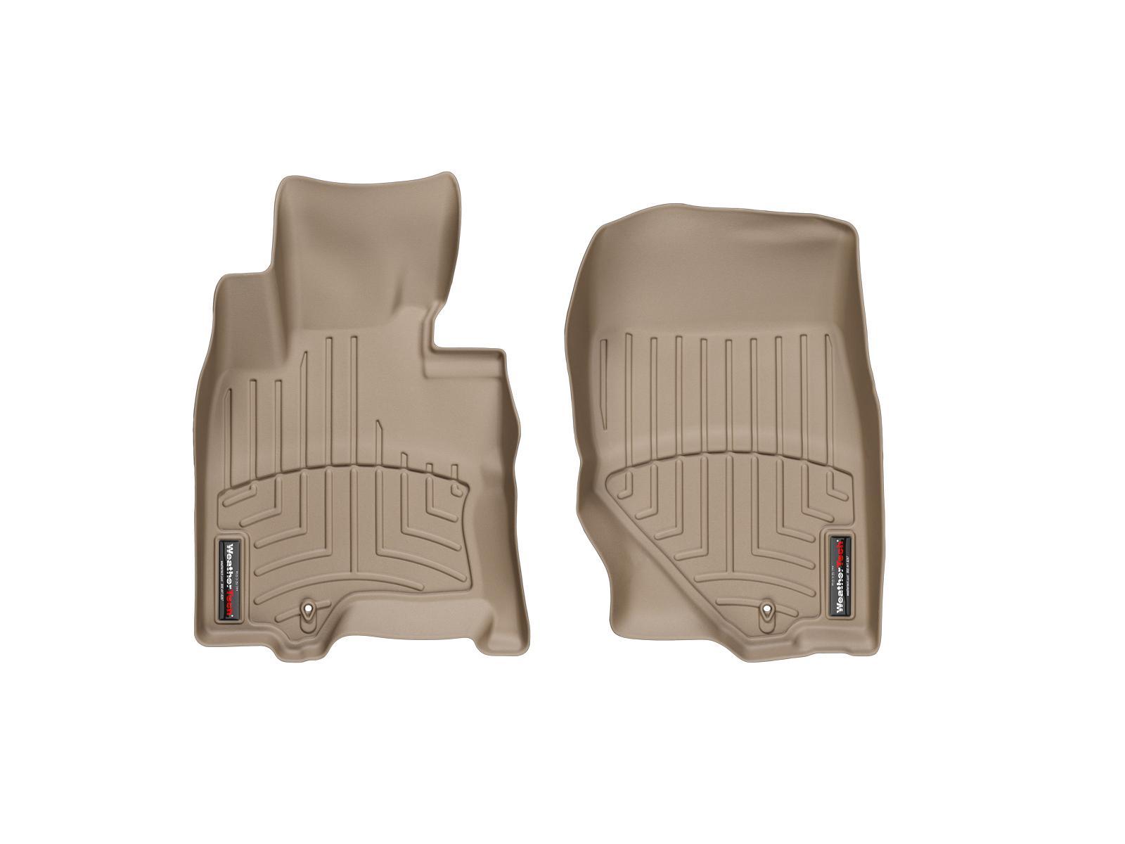 Tappeti gomma su misura bordo alto Infiniti FX 08>12 Marrone A1519