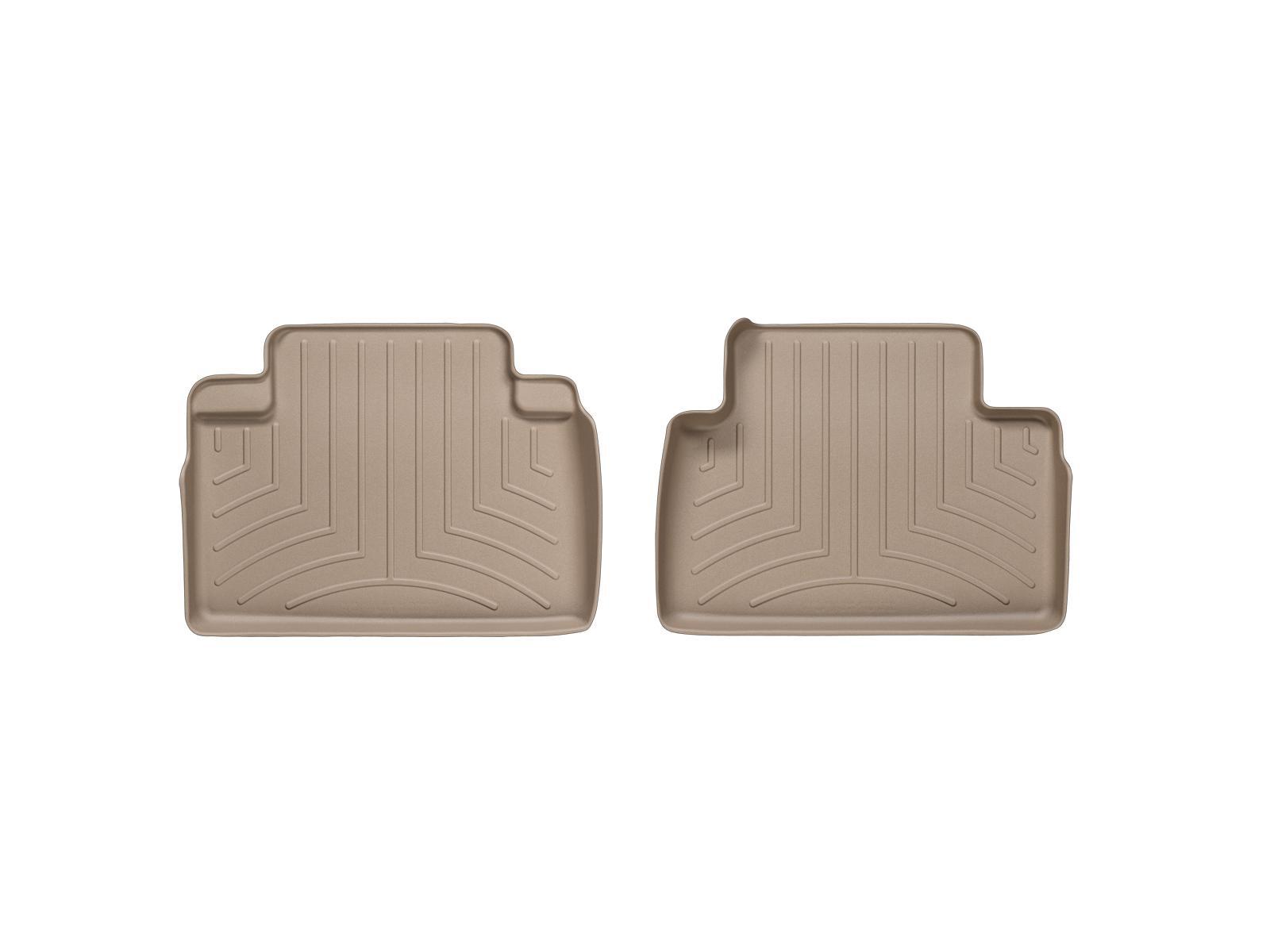 Tappeti gomma su misura bordo alto Infiniti FX 08>12 Marrone A1521