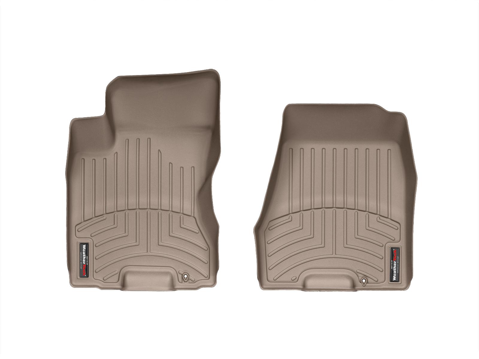 Tappeti gomma su misura bordo alto Nissan X-Trail 08>13 Marrone A2927