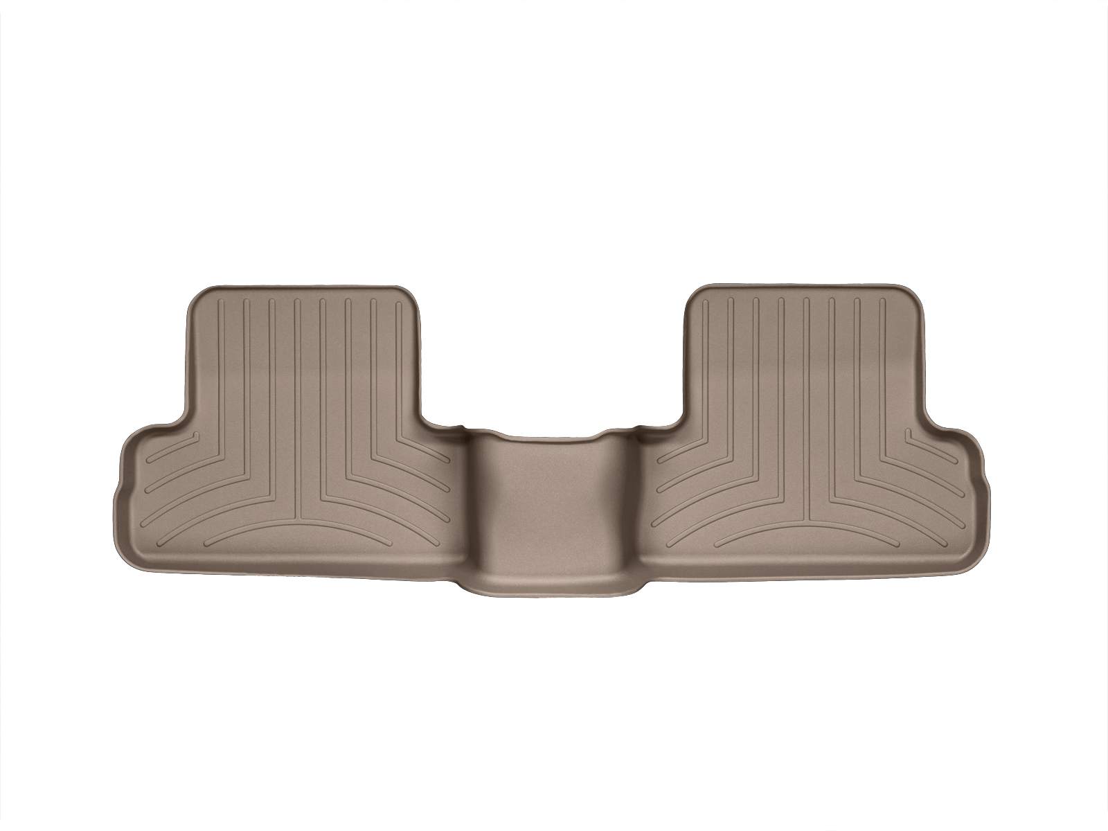 Tappeti gomma su misura bordo alto Nissan X-Trail 08>13 Marrone A2928