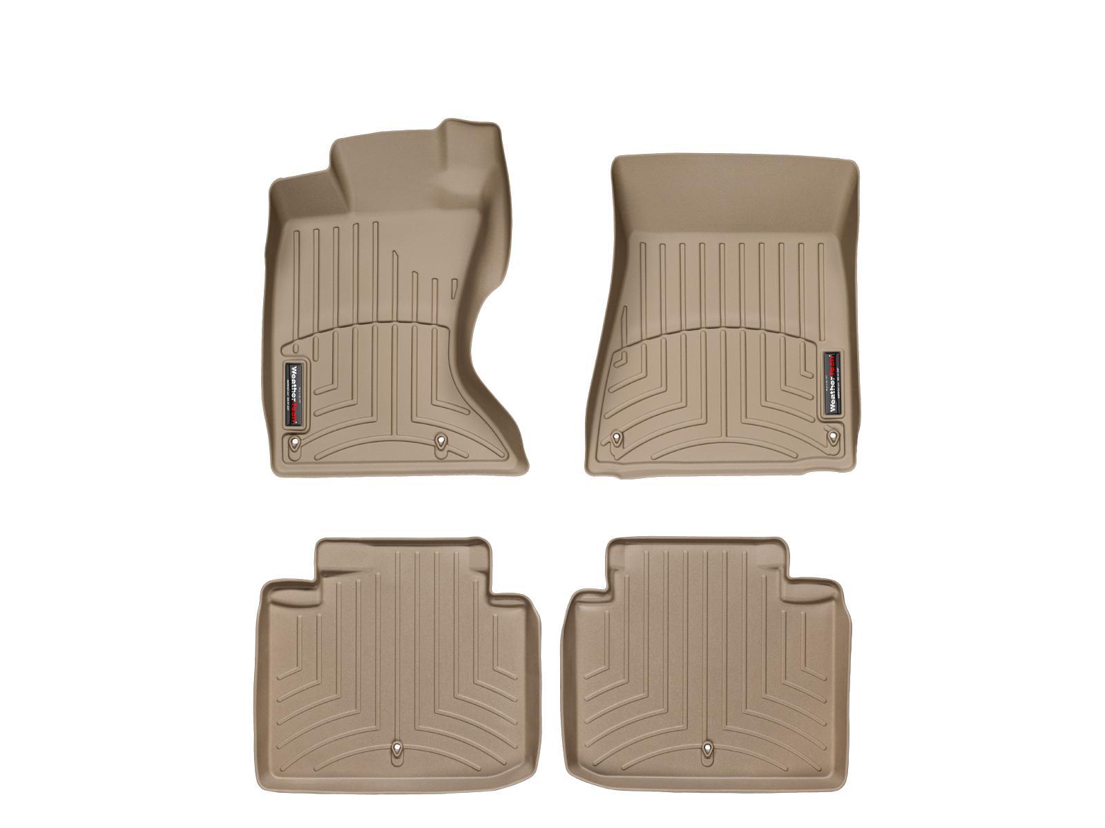 Tappeti gomma su misura bordo alto Lexus GS 300 06>06 Marrone A2022